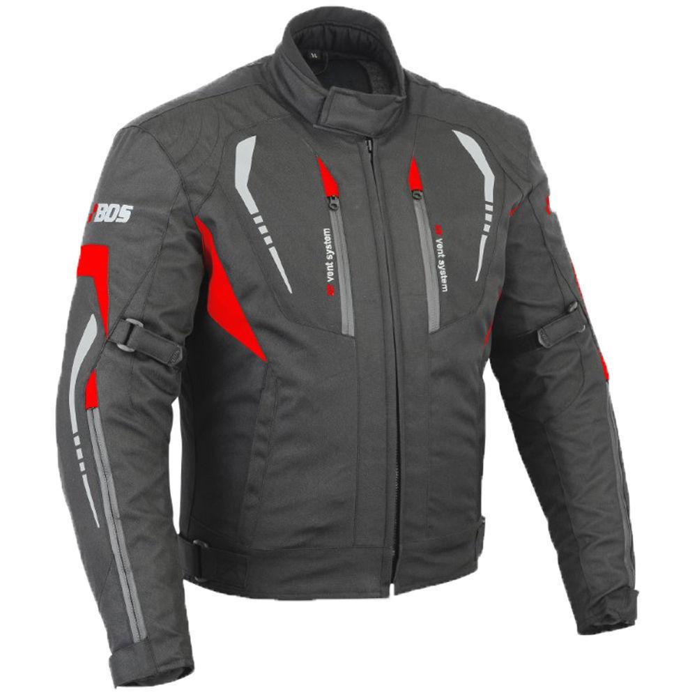 Hombre Textil Chaqueta de de de moto Chaqueta de Moto Rojo Negro M hasta 3xl 73b753