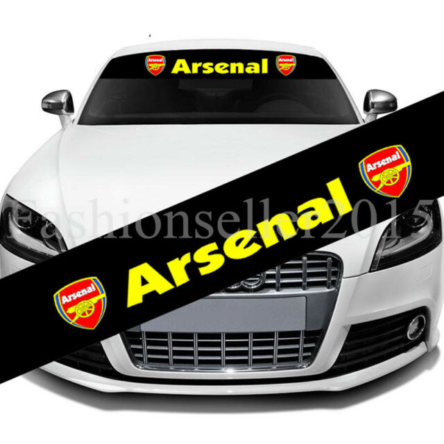 Reflective arsenal front windshield decal vinyl car sticker auto window exterior