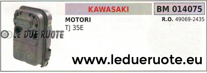 490692435 MARMITTA SCARICO SILENZIATORE ESPANSIONE MOTORE KAWASAKI TJ 35E