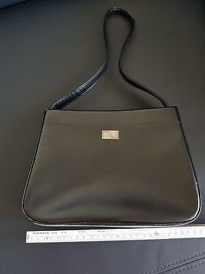 Lederhandtasche, Handtasche schwarz