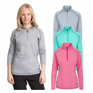 Trespass Womens Long Sleeve 1/2 Zip Pullover Gym Top Active Workout Zirma
