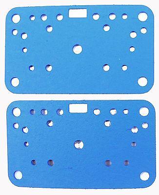 HOLLEY 108-90-2 METERING BLOCK GASKET SET 2 PIECE NON STICK BLUE