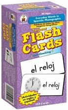 Everyday Words in Spanish : Photographic by Carson-Dellosa Publishing Staff (2004, Cards,Flash Cards)
