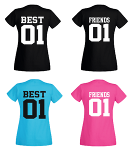 t shirt best friends 01 partner freundinnen beste. Black Bedroom Furniture Sets. Home Design Ideas