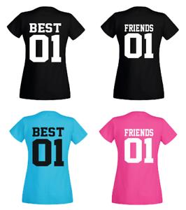 T-shirt Best Friends 01-partenaires amies-Les meilleurs amis-Sister-Fun