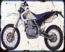 Ccm 604 Dual Sport A4 Metal Sign Motorbike Vintage Aged