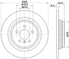 Mintex MDC2702 Brake Disc