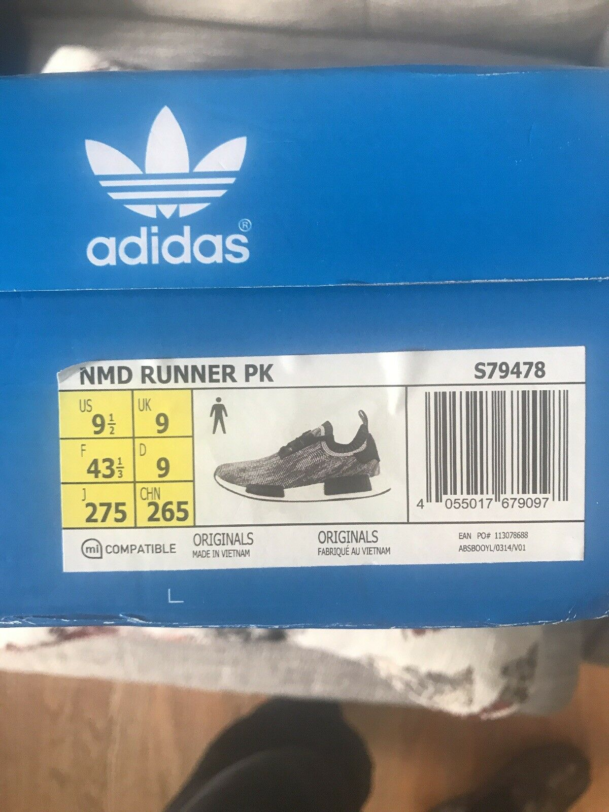 Adidas NMD Runner Pk Glitch Camo Size 9.5 Used