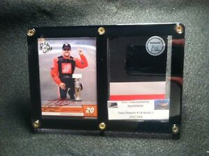 Tony Stewart Card Display &Race Used Metal from his NASCAR Race Car @ Charlotte