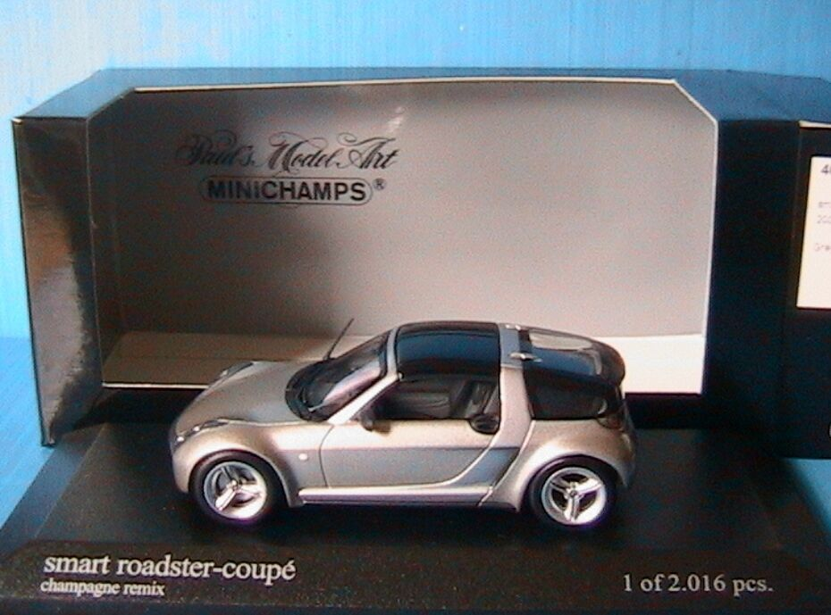 SMART ROADSTER COUPE 2003 CHAMPAGNE REMIX MINICHAMPS 400032121 1 43 gris METAL