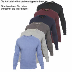 Roberto Barini Herren Pullover Sweatshirt Basic Sweater Pulli S/M/L/XL/XXL