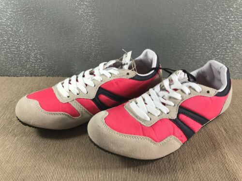 BNWT Older Girls Size 4 Rivers Pink Navy Natural Casual Jogger Shoes