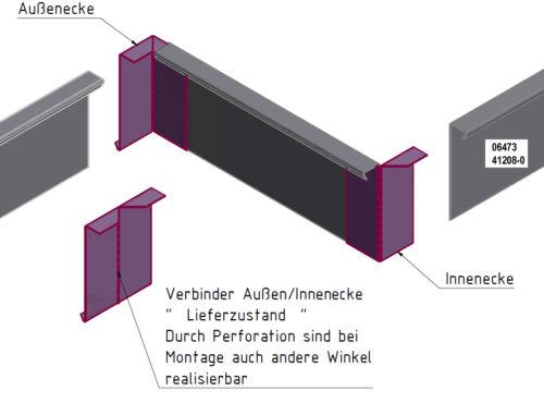WINKELVERBINDER für Rasenkanten Kiesleiste Beeteinfassung Edelstahl.