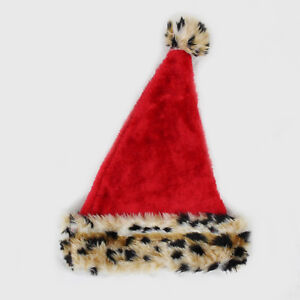 NOVELTY CHRISTMAS HAT LEOPARD PRINT CHRISTMAS HAT