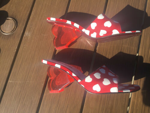 RAMON TENZA VINTAGE SLIDES/SANDALS WITH HEART SHAP