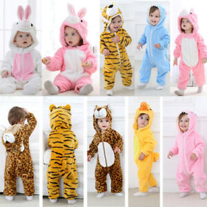 Toddler-Newborn-Baby-Boys-Girls-Animal-Cartoon-Hoodie-Rompers-Outfits-Clothes
