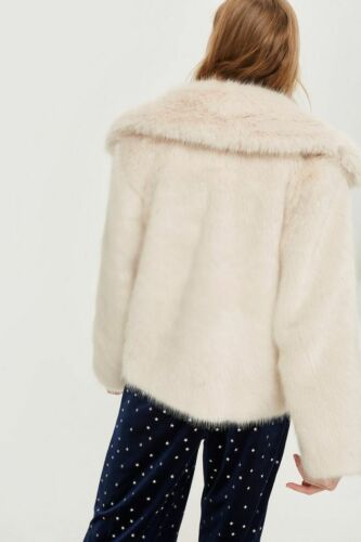 12 Blouson Blush En 10 Taille Uk Blanc Fausse Fourrure Bnwt Topshop Femmes Manteau wFqA8Ux6