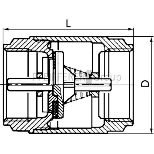 Pneumatik Rückschlagventil L-RV7-II-1//2-MSv