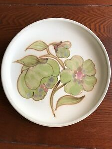 Denby-Langley-Troubadour-Stoneware-Dinner-Plate-10-034-Beige-Green-Floral-China