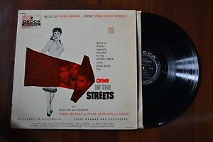 Crime-In-The-Streets-Frank-Waxman-Jazz-Orchestra-Original-Record-lp-VG