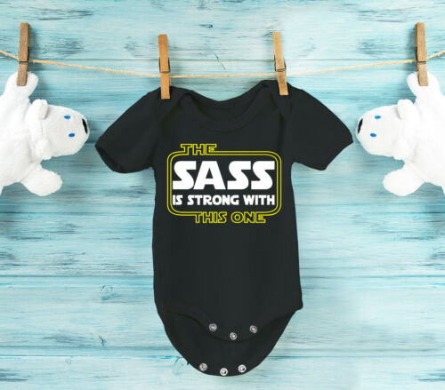 The Sass is strong with this one  baby grow bodysuit vest.