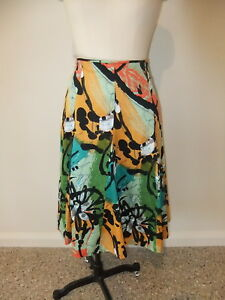 JUMP-LADIES-SIZE-10-100-COTTON-FULL-PANELLED-SKIRT-MULTI-COLOURED-BRIGHT-CASUAL