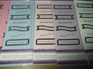 A4 Die Cut Silver Foiled Banner Sentiments Sheet Birthday Various Designs