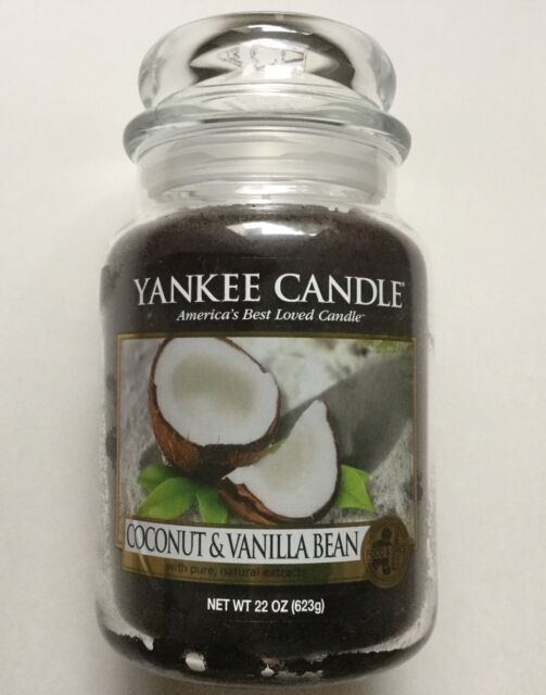 YANKEE CANDLE COCONUT & VANILLA BEAN 22 oz. LARGE JAR HTF SCENT