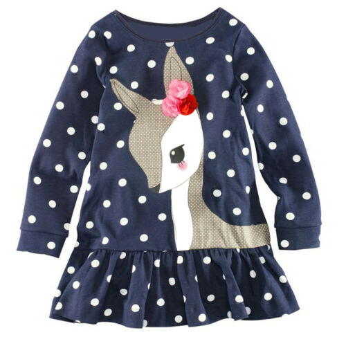 Toddler Baby Girl Kids Autumn Clothes Long Sleeve Party Dees TopsT-Shirt Dresses