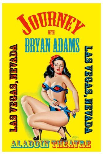 Journey /& Bryan Adams at   Aladdin Theatre Las Vegas Concert Poster 1983 ROCK