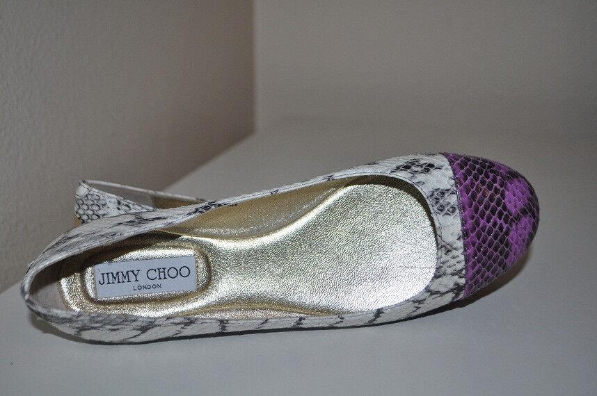 NIB Jimmy Choo WHIRL Snake Python Python Python Cap Toe Ballet Ballerina Flat shoes 36.5   6.5 f06fb1