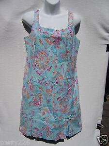 c39e51de2b Sigrid Olsen Sport Women s Aqua Floral Tank Dress Chadwick s NWT ...