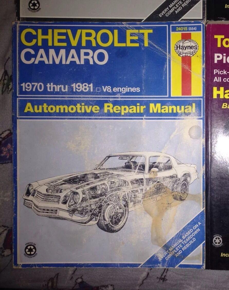 Haynes Repair Manual: Haynes Chevrolet Camaro, 1970 Thru 1981 by Scott  Mauck and John Haynes (1999, Paperback) | eBay