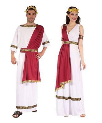 Mens Ladies Greek God Goddess Fancy Dress Costume Outfit Roman Egyptian