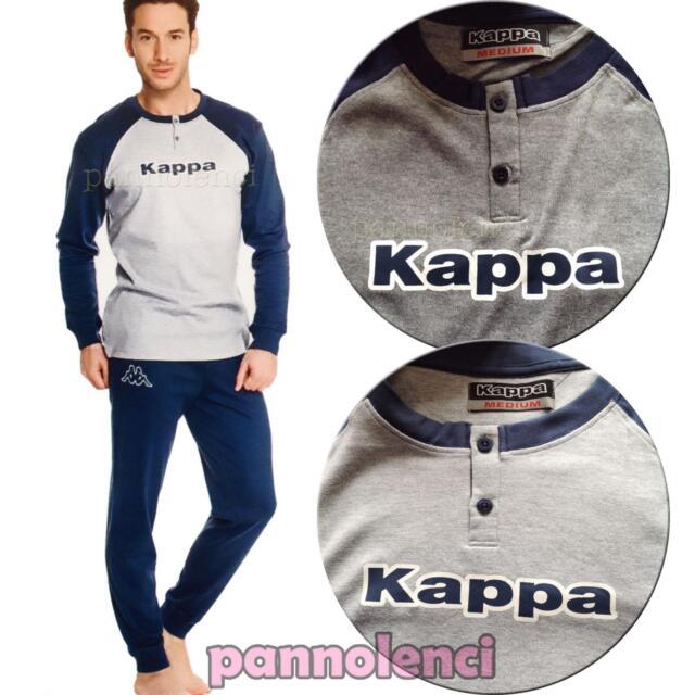 Pigiama tuta UOMO Kappa cotone 100% maniche lunghe pantaloni nuovo 3027EG0