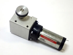 MAXON 242885 MOTOR 24VDC MAX. with RIGHT ANGLE GEAR DRIVE, TESTED & WORKING!
