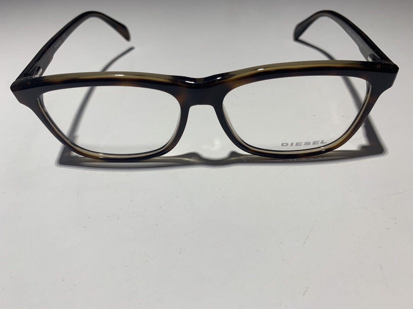 Diesel Rx Eyeglasses Frames DL5137 020 55-14-140 Black Grey Denim on Shiny Black
