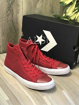 Sneakers Men's Converse Chuck Taylor 2 Flyknit Canvas Red Lunarlon 156737C | eBay