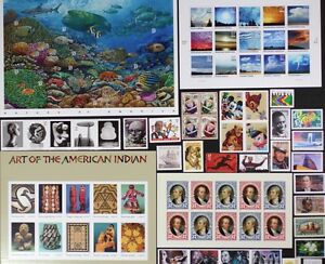 US-2004-Commemorative-Year-Set-85-stamps-including-Sheets-Mint-NH-see-scans