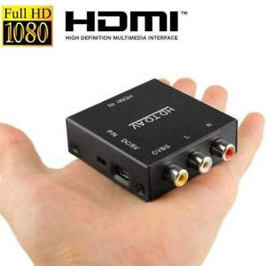 HDMI-To-AV-Adapter-Converter-Cable-CVBS-3RCA-1080P-Composite-Video-Audio-Black