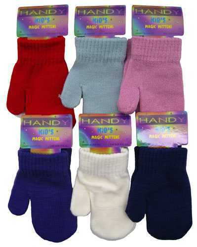 1 Kids Magic Plain Little Hands Super Stretchy Mittens One Size