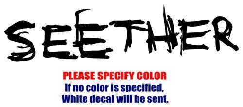 "Seether Band Rock Music Vinyl Decal Car Sticker Window bumper Laptop Tablet 12/"""