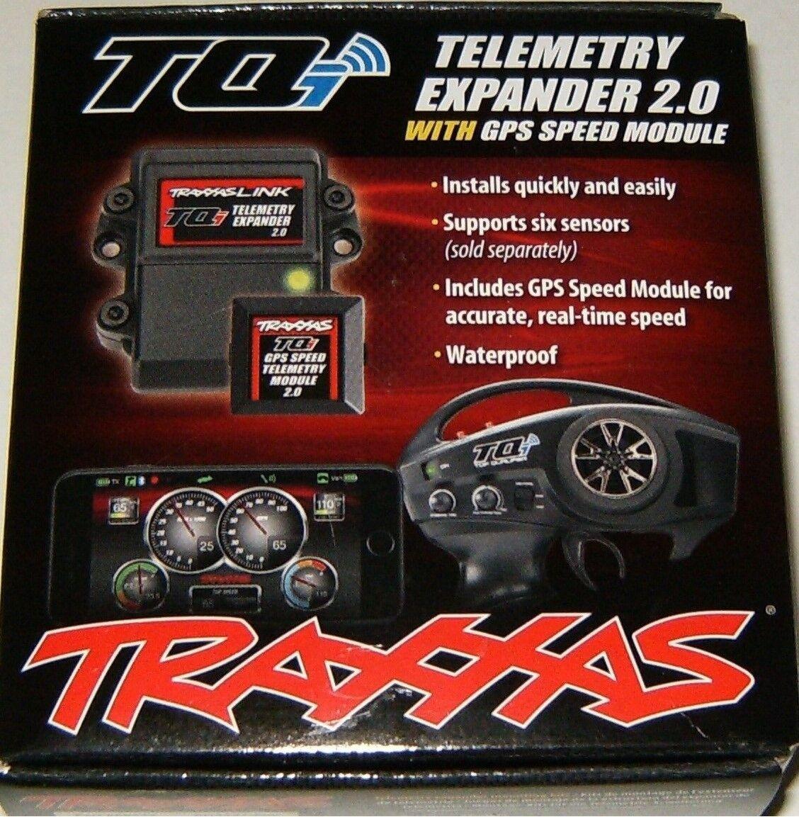 fino al 60% di sconto Traxxas TQi Telemetry Telemetry Telemetry Expeer 2.0 Waterproof With GPS Speed Module TRA6553X  risposte rapide