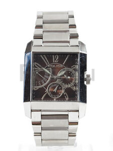 Police-10966M-Mens-Stainless-Steel-Chronograph-Bracelet-Watch-w-Square-Dial