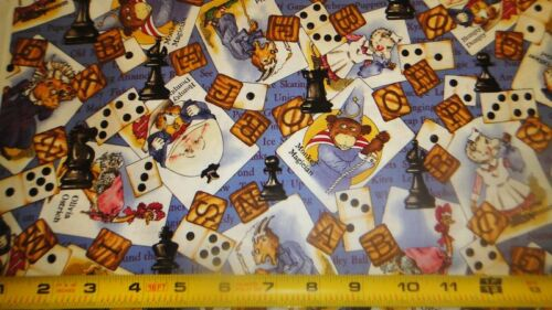 Tiding of Great Joy Fabric Alpha Game Domino Chess Dice Old Maid Fabric W Frisch