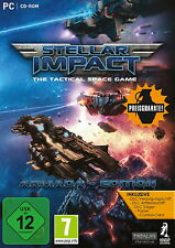 PC CD Rom Computerspiel STELLAR IMPACT The Tactical Space Game Armada Edition Ne