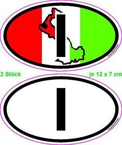 Details Zu Motorrad Auto Helm Caravan Nationalitätenkennzeichen Sticker Aufkleber Italien