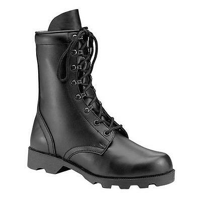 MEN'S ROTHCO BLACK LEATHER SPEEDLACE COMBAT  army military tactical police swat