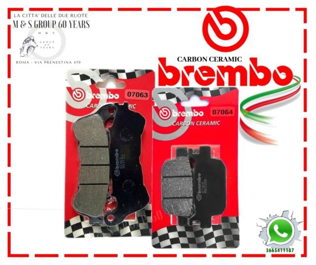 PASTIGLIE FRENO BREMBO HONDA SH 300 2015 POSTERIORI 07064