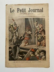 Supplement-Illustre-Le-Petit-Journal-27-11-1898-N-419-JEUNE-SAUVAGE-SAINT-OUEN